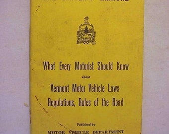 motor vehicle manual etsy