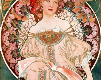 BCB Puzzles Hand Cut Wooden Jigsaw Puzzle - F. Champenois - Mucha