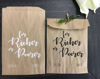 Bridal Shower Favors - Wedding Favor Bags - Candy or Gift bags - Rustic Barn Wedding Favor Idea - set of 25
