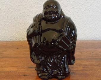 "Vintage Ceramic Laughing Buddha Statue 6"""