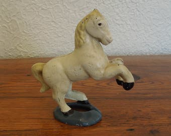 Antique Cast Iron Prancing Horse Bank AC Williams