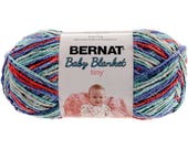 Bernat Baby Blanket Tiny Yarn Calico Quilt Worsted Weight 4