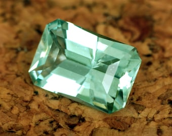 2.53 Carat Greenish Blue Nigerian Aquamarine Gemstone Precision Cut Gem