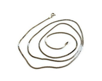 """Vintage 30"""" S Link Sterling Silver Made in Italy Chain / Necklace"""