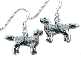 Sterling Silver Labrador Retriever Whole Body Earrings