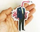 Flamingo Sticker | Florida Sticker | Vinyl Laptop Sticker | Phone Case Sticker | Bumper Sticker | Yeti Sticker | Outdoors Sticker