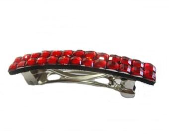 Hair Barrette, Red Hair Clip, French Barrette, Hair Accessories Women Girls