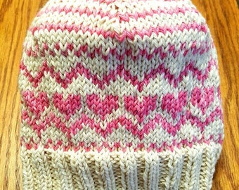 Winter Love Hat Pattern