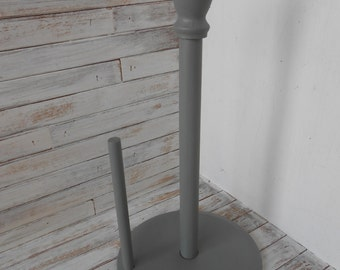 Wood Paper Towel Holder-Gray Paper Towel Stand - Grey Paper Towel Stand -Gray Kitchen Paper Towel Holder-Kitchen Paper Towel Holder-