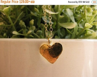 CHRISTMAS SALE - Heart necklace - Heart necklace gold - Love necklace - Small heart necklace - Delicate heart necklace - 14k gold filled nec