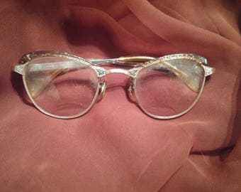 MARKED DOWN 1950s 1960s Cat Eye Glasses Vintage Retro