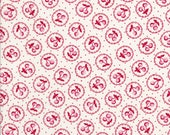 Old New 30s - Lecien Fabric - Reproduction Fabric - Red Cherry Fabric - Cherry Fabric - Red Fabric