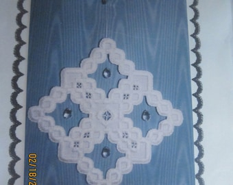 Diamond Suncatcher Hardanger Embroidery Pattern