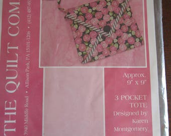 3 Pocket Quilted Tote Pattern
