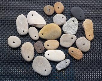 Parcel of 20 Drilled Australian Beach Stones