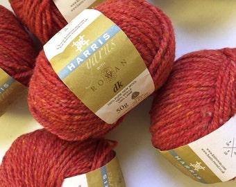 40% Off Rowan Harris DK Scottish Tweed Wool Sunset Orange 123 Yards