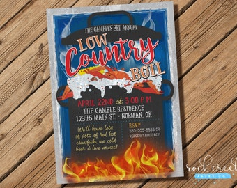 Crawfish Boil Invitation, Seafood Boil Invitation, Low Country Boil Invitation, Seafood Dinner Party, Printable Party Invitation