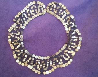 Vintage 1920's sequin collar
