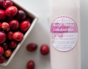 Berry Body Conditioner - 5oz Airless Pump Bottle - Paraben Free In-Shower Lotion