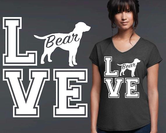 Labrador Retriever   Dog Shirt   Dog Lover Gift   Custom T-shirts   Personalized T-shirts   Inspirational T-shirt   Korena Loves