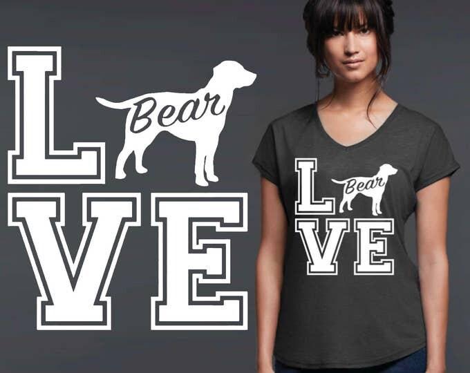 Labrador Retriever | Dog Shirt | Dog Lover Gift | Custom T-shirts | Personalized T-shirts | Inspirational T-shirt | Korena Loves