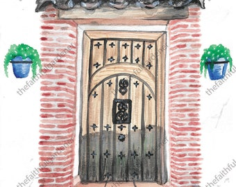 Mijas Door Watercolor Original Painting
