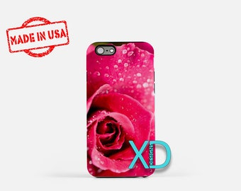 Pink Rose iPhone Case, Flower iPhone Case, Pink Rose iPhone 8 Case, iPhone 6s Case, iPhone 7 Case, Phone Case, iPhone X Case, SE Case