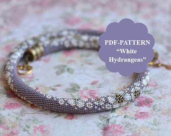 Bead crochet necklace pattern Bead crochet pattern Beadwork graph Vintage style pattern Bead crochet bracelet pattern Chudibeads