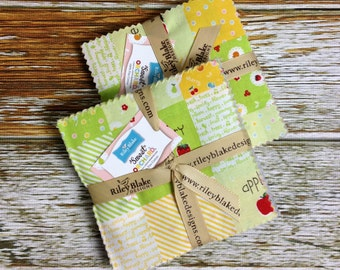 """Sweet Orchard Charm Pack 5"""" Stacker Pre-cut Quilt Squares Fabric by Riley Blake"""