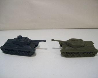 Lot of 2 Vintage Ideal Military Plastic Tanks, 1975