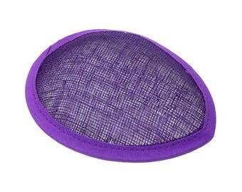 Purple Sinamay Teardrop Fascinator Hat Base - Available in 16 Colors