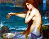FAB MERMAID! Vintage Fairy Tale Book Illustration. Vintage DIGITAL Mermaid Download. Mermaid Digital Download. Printable Mermaid Image.