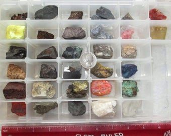 Rock and Mineral Collection - 32 Different Specimens - Assembled by Dr. Lawrence F. Baum