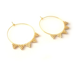 Gold-plated creole earrings