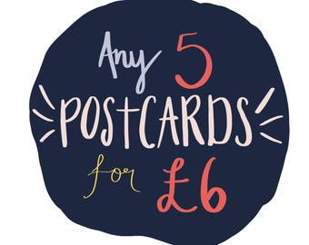 Choose your own Postcards x5