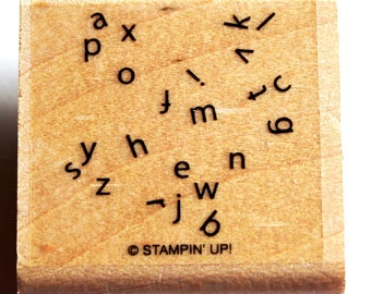 Scrambled Alphabet Background Rubber Stamp retired from Stampin Up!