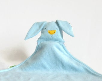 Light Blue Security Blanket, Soft Cute Cuddly Plush Security Blanket, baby blankie, Purple Lovely Bunny Blanket Toy, New Baby Shower Gift