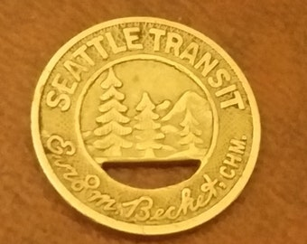 Seattle Transit Token - Good For One Fare - Vintage American