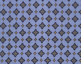 Blue Foulard - Silent Flight Collection - Quilting Treasures Fabric 23599-B (sold by the 1/2 yard)