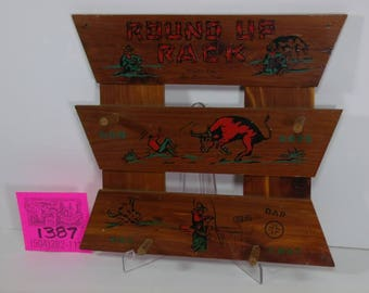 "1950's Cowboy Western ""Round-Up"" Souvenir Clothes Rack"