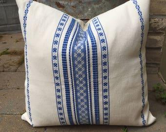 boho hand-loomed Tribal Oaxaca mexican textile pillow cover/ boho beach decor pillow