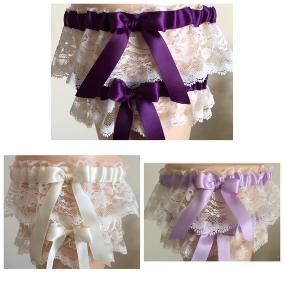 Ivory Garters Wedding: Ivory Lace Wedding Garter Set Ivory Bridal Garter Set Prom