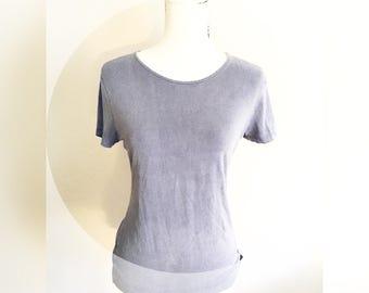 Navy blue t shirt- minimal style