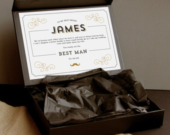 Suit Up Groomsman Gift Box, Best Man gift set