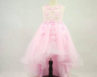 Flower girls' lace | Flower girl lace | Pink Pageant lace