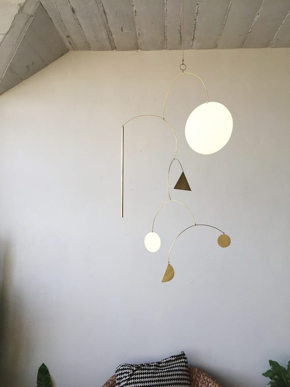 Geometric Brass Mobile - made-to-order - 2 week turnaround time