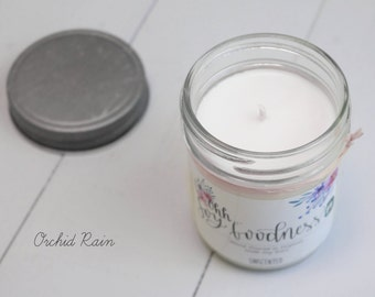 ORCHID RAIN 8oz | Hand-Poured Soy Wax