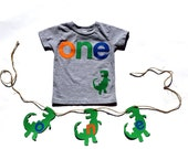 o n e  Dinosaur, Shirt, First Birthday, one, Matching Banner Available, READY TO SHIP