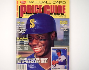 Sports Collectors Digest Baseball Card Price Guide Dec 1990 with Ken Griffey Jr. on Cover