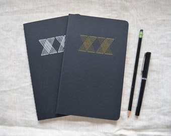 XX Notebook - Gold and Black